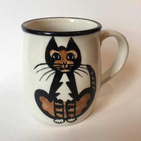 Calico Cat - Hand Painted Ceramic Coffee Mug
