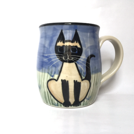 Siamese Cat - Hand Painted Ceramic Coffee Mug