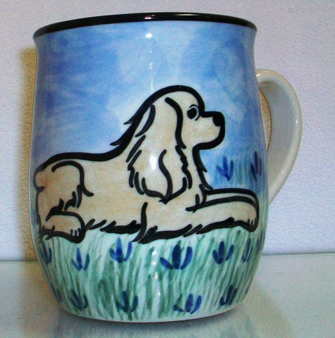 Cocker Spaniel Buff - Hand Painted Ceramic Coffee Mug