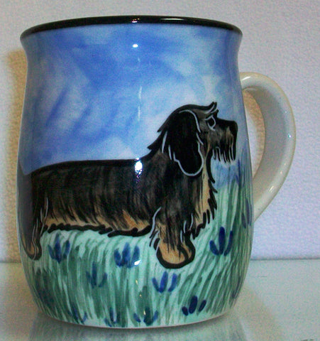Dachshund Wired - Hand Painted Ceramic Coffee Mug
