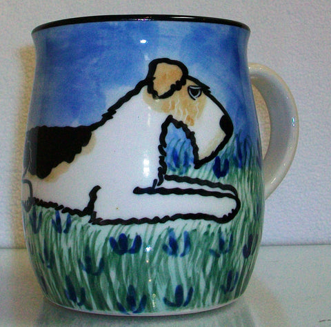 Fox Terrier - Hand Painted Ceramic Coffee Mug