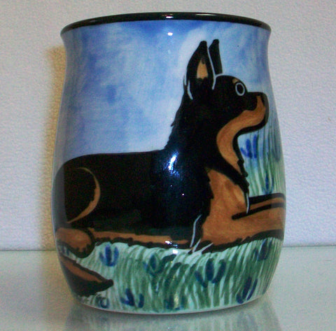 German Shepherd - Hand Painted Ceramic Coffee Mug