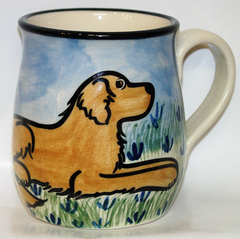Golden Retriever - Hand Painted Ceramic Coffee Mug