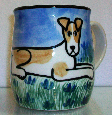 Jack Russel Terrier - Hand Painted Ceramic Coffee Mug