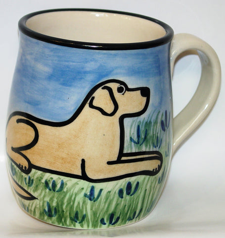 Labrador Yellow- Hand Painted Ceramic Coffee Mug