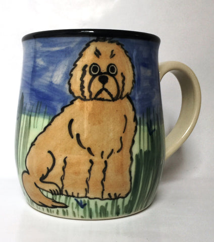 Golden doodle - hand painted ceramic mug