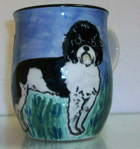 Portugese Water Dog  - Hand Painted Ceramic Coffee Mug