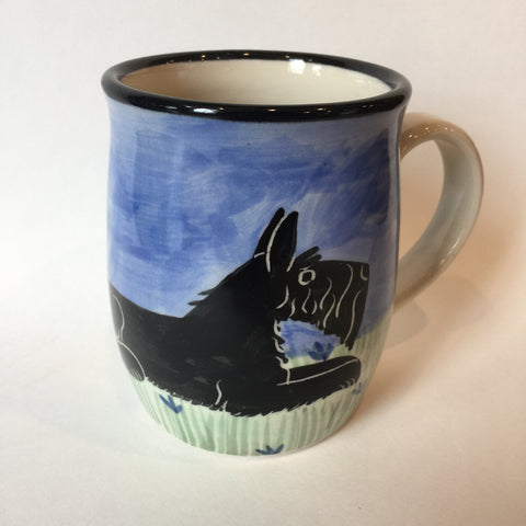 Schnauzer Black - Hand Painted Ceramic Coffee Mug