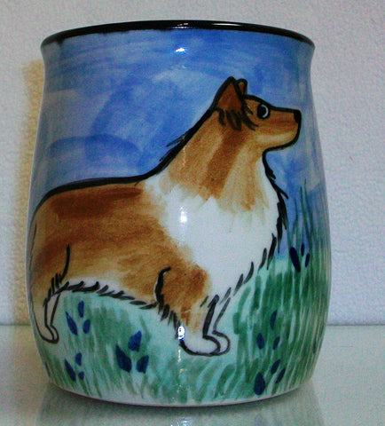 Sheltie - Hand Painted Ceramic Coffee Mug