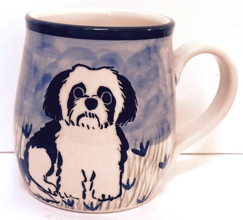 Maltese Puppy - Hand Painted Ceramic Coffee Mug