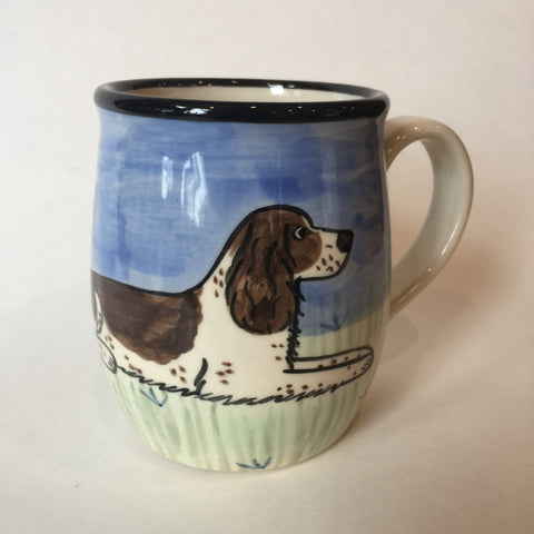 Springer Spaniel Brown & White - Hand Painted Ceramic Coffee Mug
