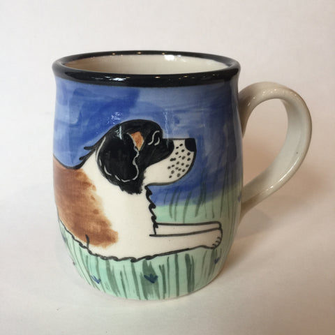St. Bernard - Hand Painted Ceramic Coffee Mug