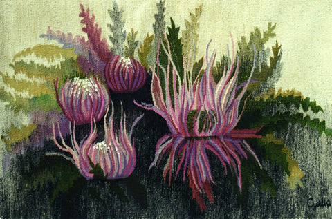 Thistle - Hand Woven Wall Hanging Tapestry by Anna Brokowska