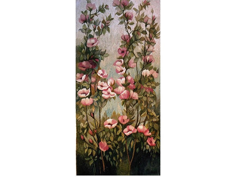 Climbing Roses - Hand Woven Wall Hanging Tapestry by Anna Brokowska