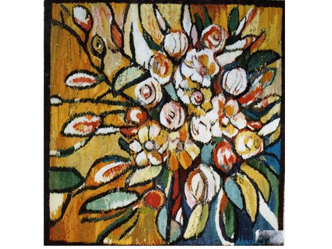 Autumn Flowers - Hand Woven Wall Hanging Tapestry by Piotr Grabowski