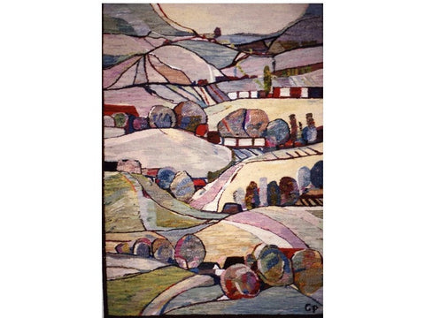 Rolling Hills - Hand Woven  Tapestry by Piotr Grabowski