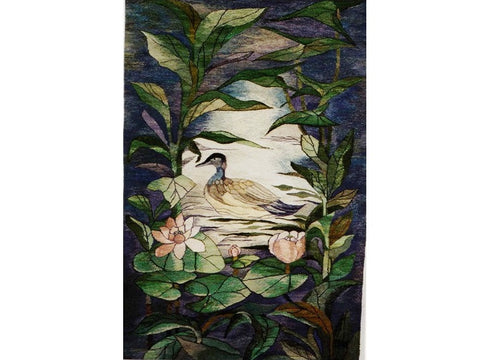 Late Afternoon - Hand Woven Wall Hanging Tapestry by Danuta Michno