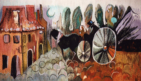 Enchanted Carriage - Hand Woven Tapestry by Maria Lizuniec