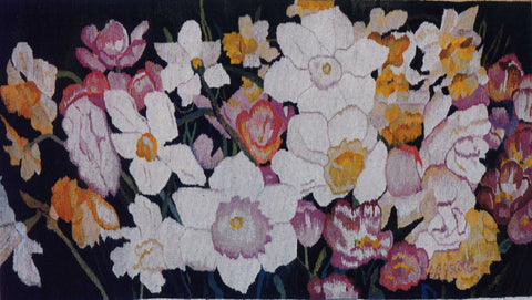 Daffodil Dance - Hand Woven Wall Hanging Tapestry by Sara Eyestone