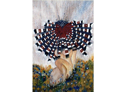 Morning Flower - Hand Woven Wall Hanging Tapestry by Dennis Downes