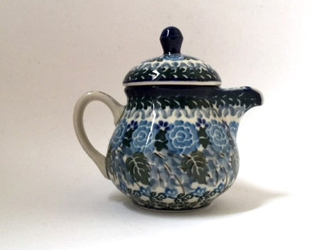 Polish Pottery Creamer with lid