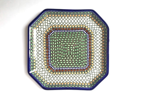 Polish Pottery large octagonal plate