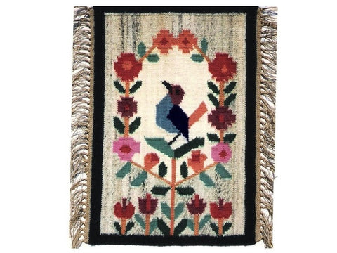 Bird - Hand Woven Wall Hanging or Table Runner