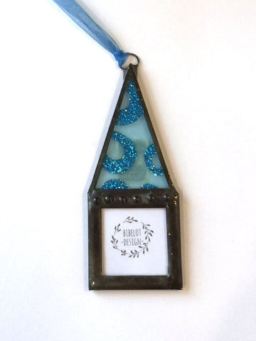 Blue House Photo Ornament