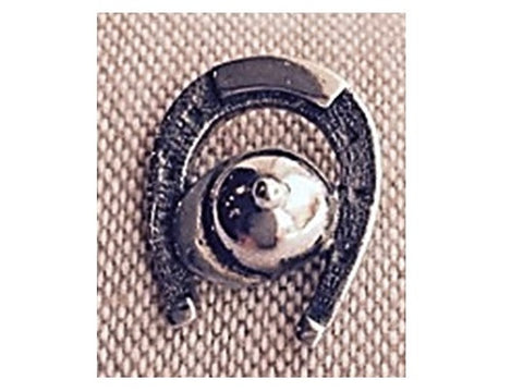 Silver Pin - Horse Shoe with a Cap