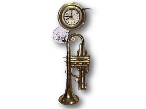 Trumpet Clock designed by Roger Wood