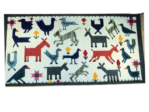 Blue Birds - Medium Area Rug
