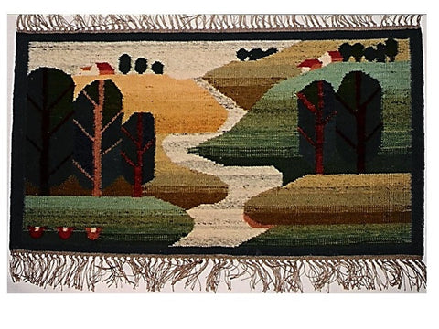 Brook II - Small rug, wall hanging or table runner