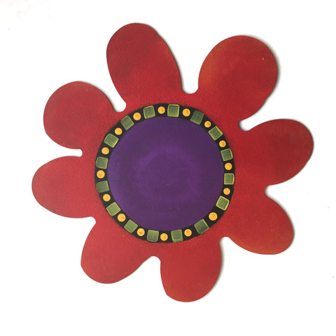 Roeda Studio hand painted wall art - Mural Flower