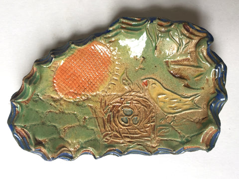 Ceramic one of a kind smallest plate