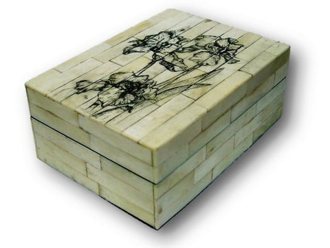 Large Scrimshaw Box
