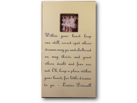 Picture frame with quote from Louise Driscoll