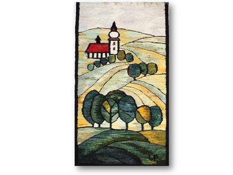 Country Scene - Wall Hanging or Table Cover