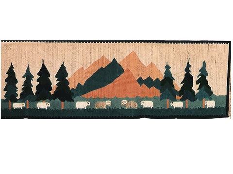 In the Valley II - Narrow Pictorial Rug