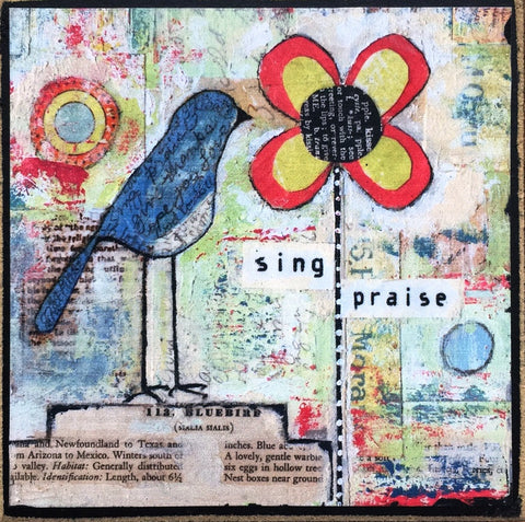 Sing Praise - Print on wood plaque
