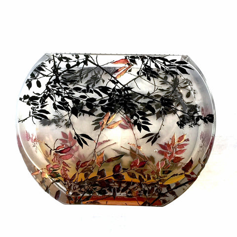 Medium Flat Fishbowl Vase - Summer Fog Bronze Collection