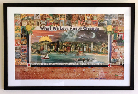 Sticks Artwork - Framed Lithograph - Chicago