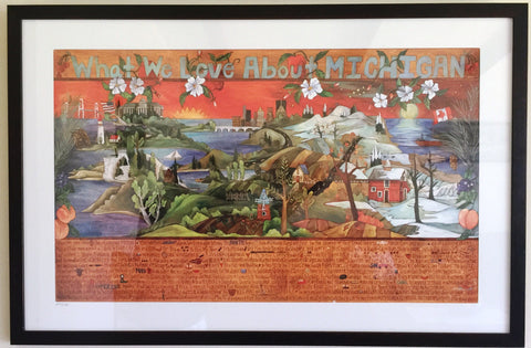 What we love about Michigan Sticks lithograph