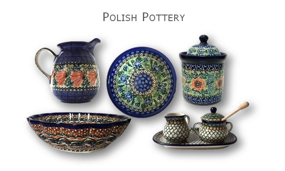 Polish Pottery hand painted dishes