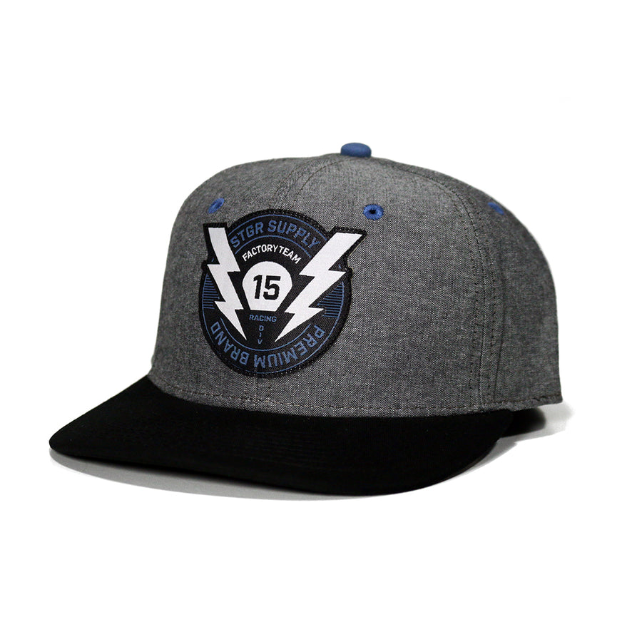 Charged Up Snapback - Oxford Gray
