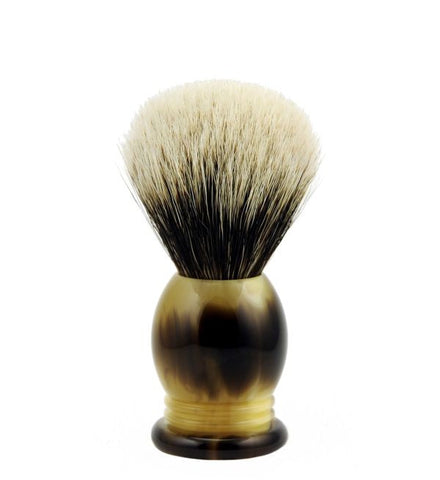 Vintage Blades Brand Finest Badger Shaving Brush in Faux Horn - 20mm