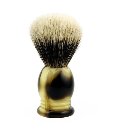 Vintage Blades Brand Finest Badger Shaving Brush in Faux Horn - 22mm