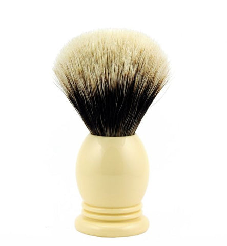 Vintage Blades Brand Finest Badger Shaving Brush in Faux Ivory - 22mm