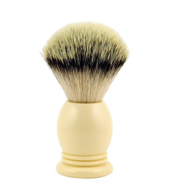 Vintage Blades Brand Synthetic, Imitation Badger Shaving Brush in Faux Ivory - 22mm