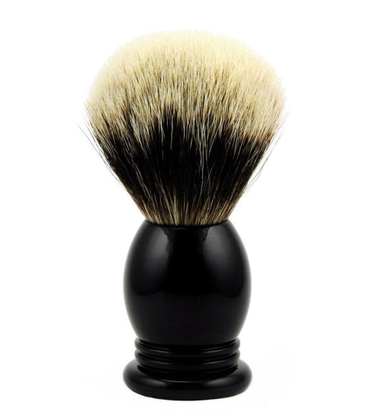 Vintage Blades Brand Finest Badger Shaving Brush in Faux Ebony - 24mm