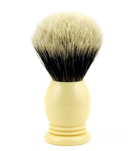 Vintage Blades Brand Finest Badger Shaving Brush in Faux Ivory - 24mm